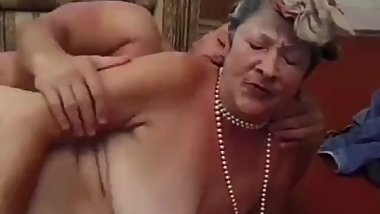 Granny Enjoys Getting Her Hairy Pussy Banged