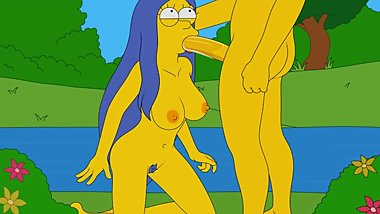 Marge Simpson Gets Facefucked