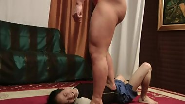 Trampling Amazon muscle girl Trample