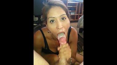 Cum mouth milf Cum in