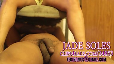 jade under chair bbc footjob