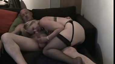 slutty wife in stockings sucks and rides friwnd to creampie