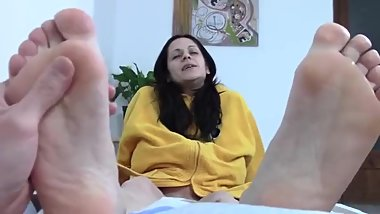 Mom love footjob