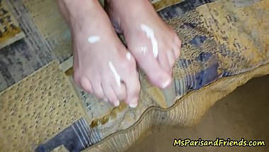 Cum on Step Mommy's Feet
