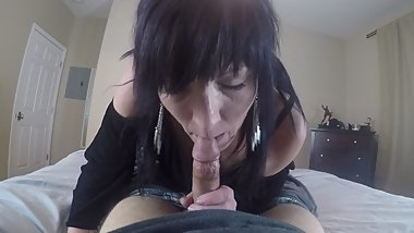 Getting work put in from ex-con blowjob with swallow